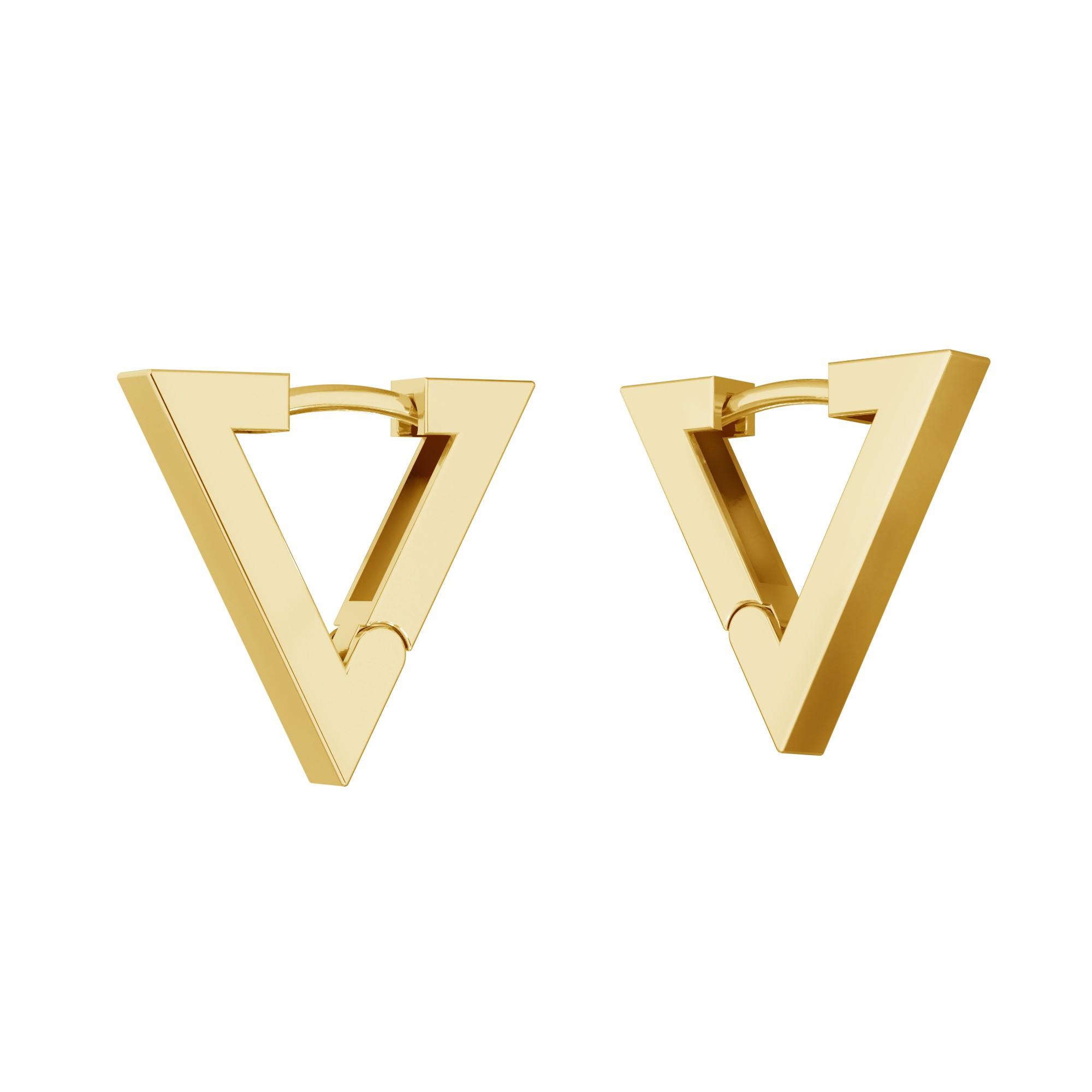 Kolczyki geometryczne trójkąty - małe , srebro 925