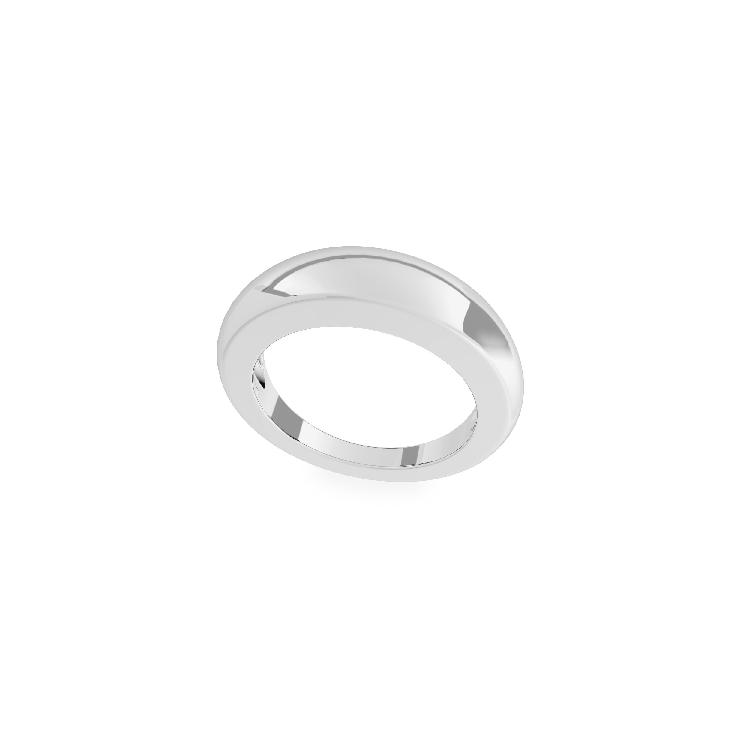 Owalny pierścień, srebro 925
