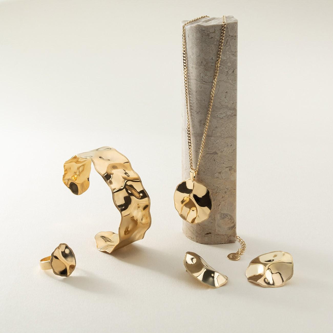 Kolczyki z gniecionej blachy srebro 925