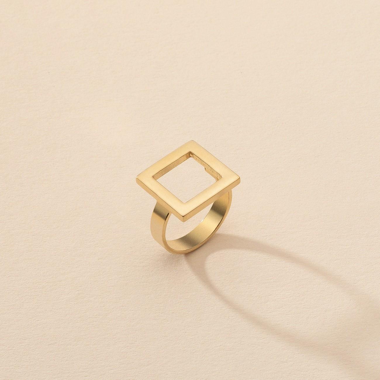 Pierścionek figura geometryczna kwadrat, srebro 925