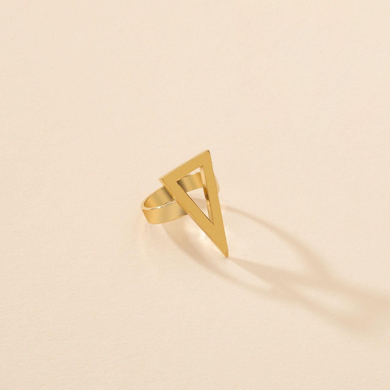 Pierścionek figura geometryczna trójkąt, srebro 925