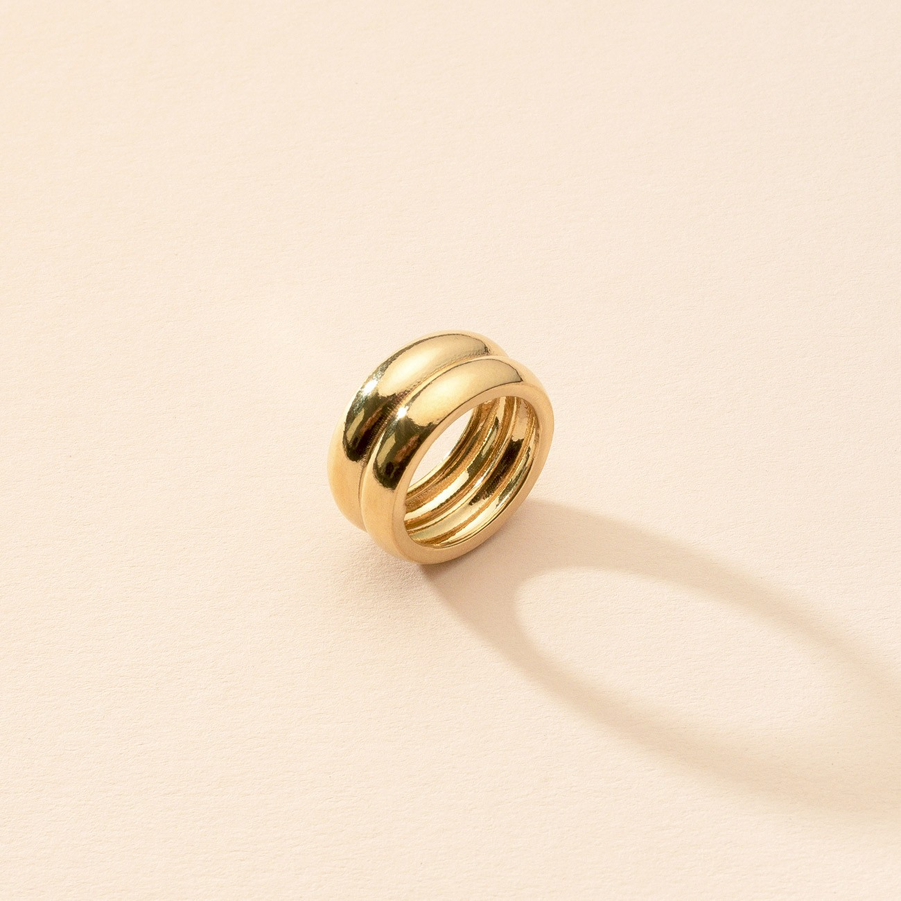 Gruby owalny pierścień, srebro 925
