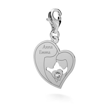 CHARMS 145, MOTHER AND DOUGHTER, SWAROVSKI