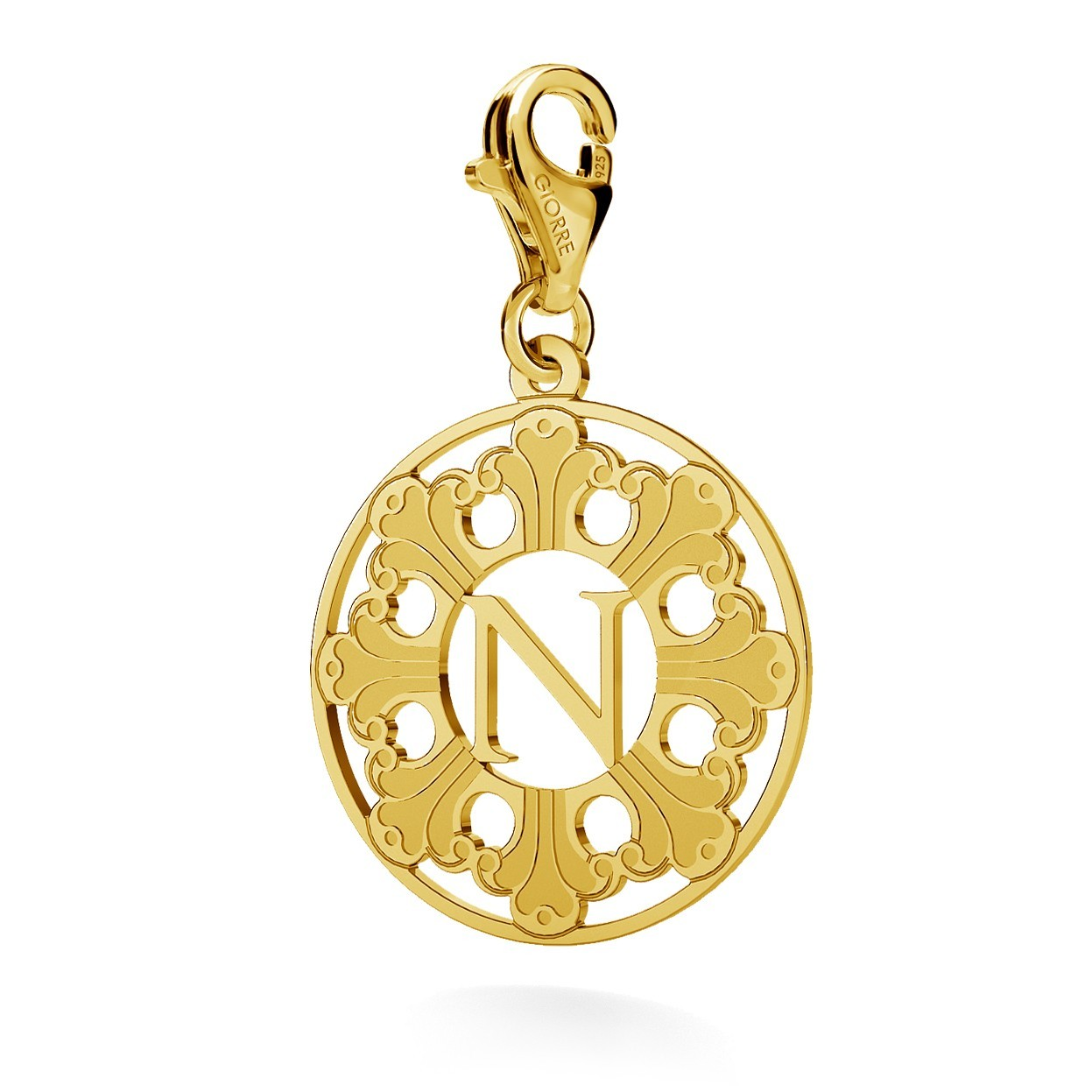 CHARM 146, GRENADE, STERLING SILVER (925) RHODIUM OR GOLD PLATED