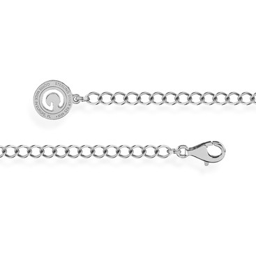 SILBERNES ARMBAND ROMBO 16-24 CM, RHODINIERTES SILBER (HELLES RHODIUM)