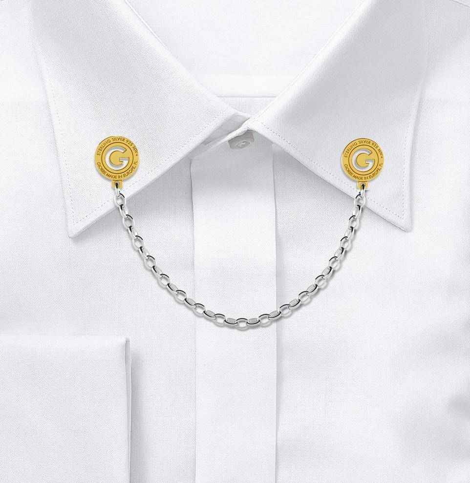 DRESS SHIRT COLLAR CHAIN, LINK 4X3 MM