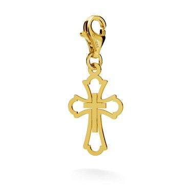 Srebrny charms ażurowy krzyż 925