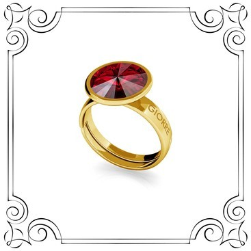 RIVOLI RING, SWAROVSKI 1122 MM 10, STERLING SILVER (925) RHODIUM OR GOLD PLATED