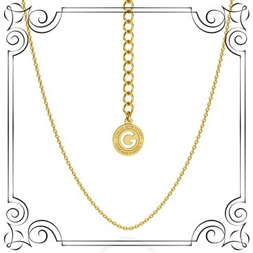 LIGHT SILVER NECKLACE 45-55 CM, GOLD PLATED (YELLOW GOLD)