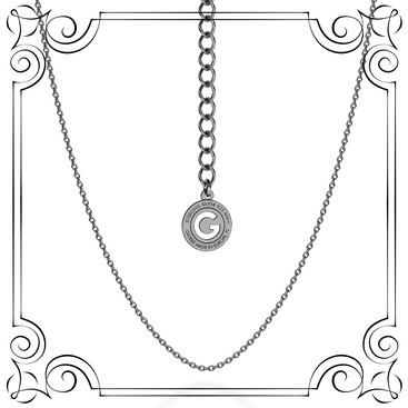 LIGHT SILVER NECKLACE 45-55 CM, RHODIUM PLATED (BLACK RHODIUM)