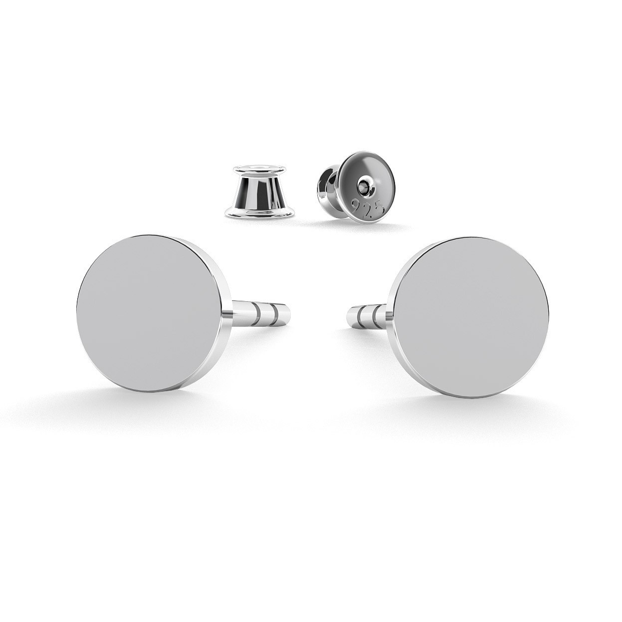 ROUND FLAT 4MM EARRINGS