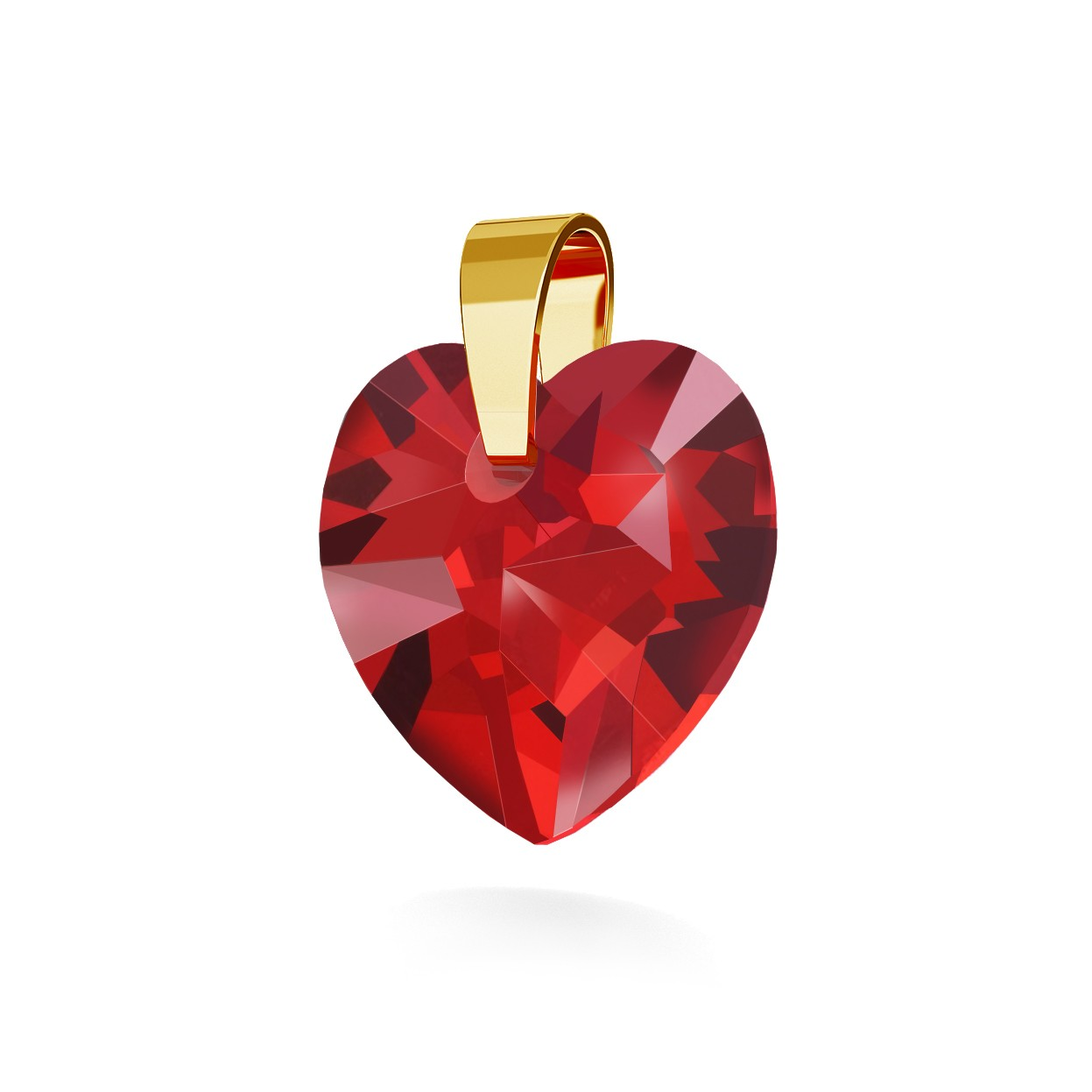 PENDANT 199, SWAROVSKI HEART 14MM
