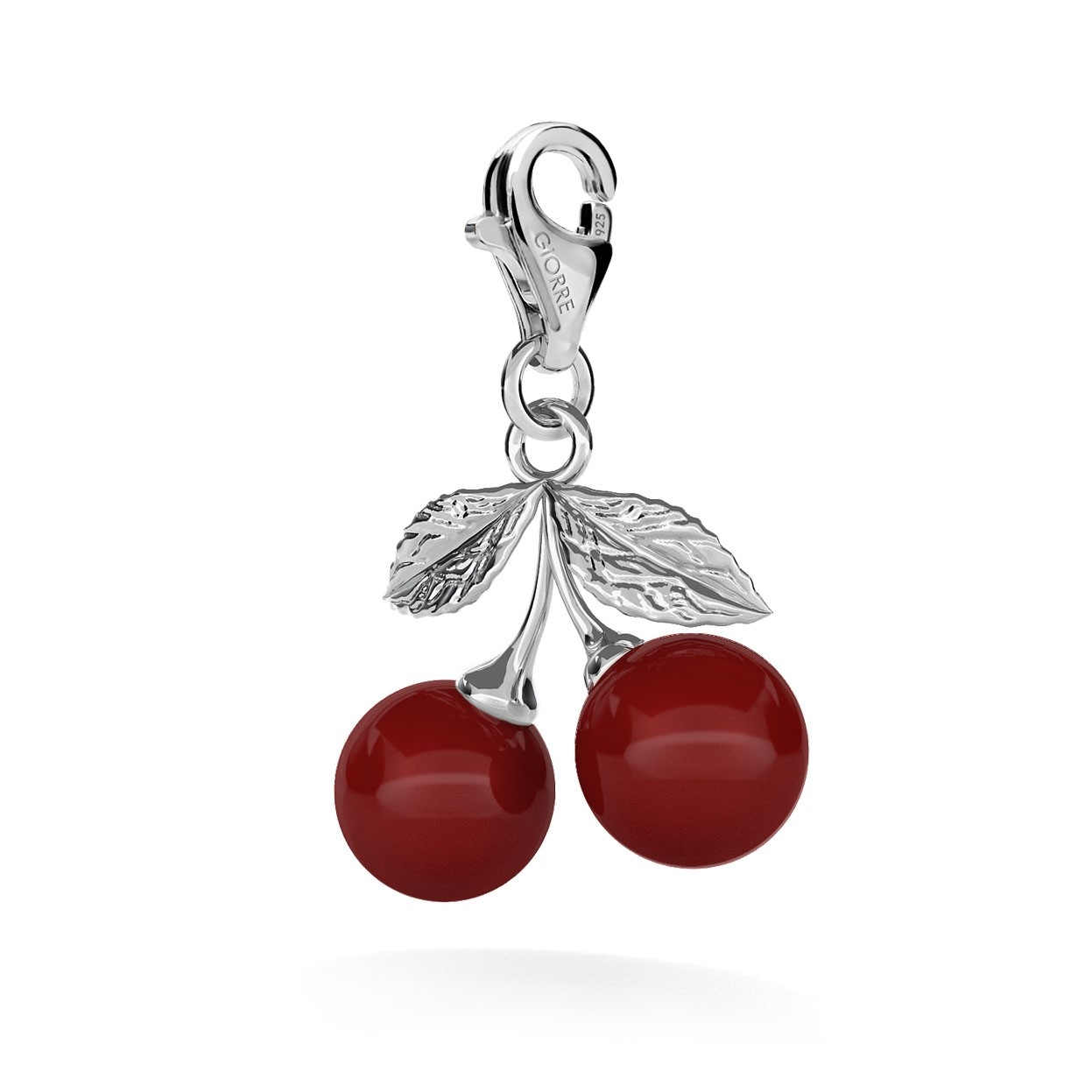 CHARM 33, CHERRY, SILVER 925, RHODIUM OR GOLD PLATED