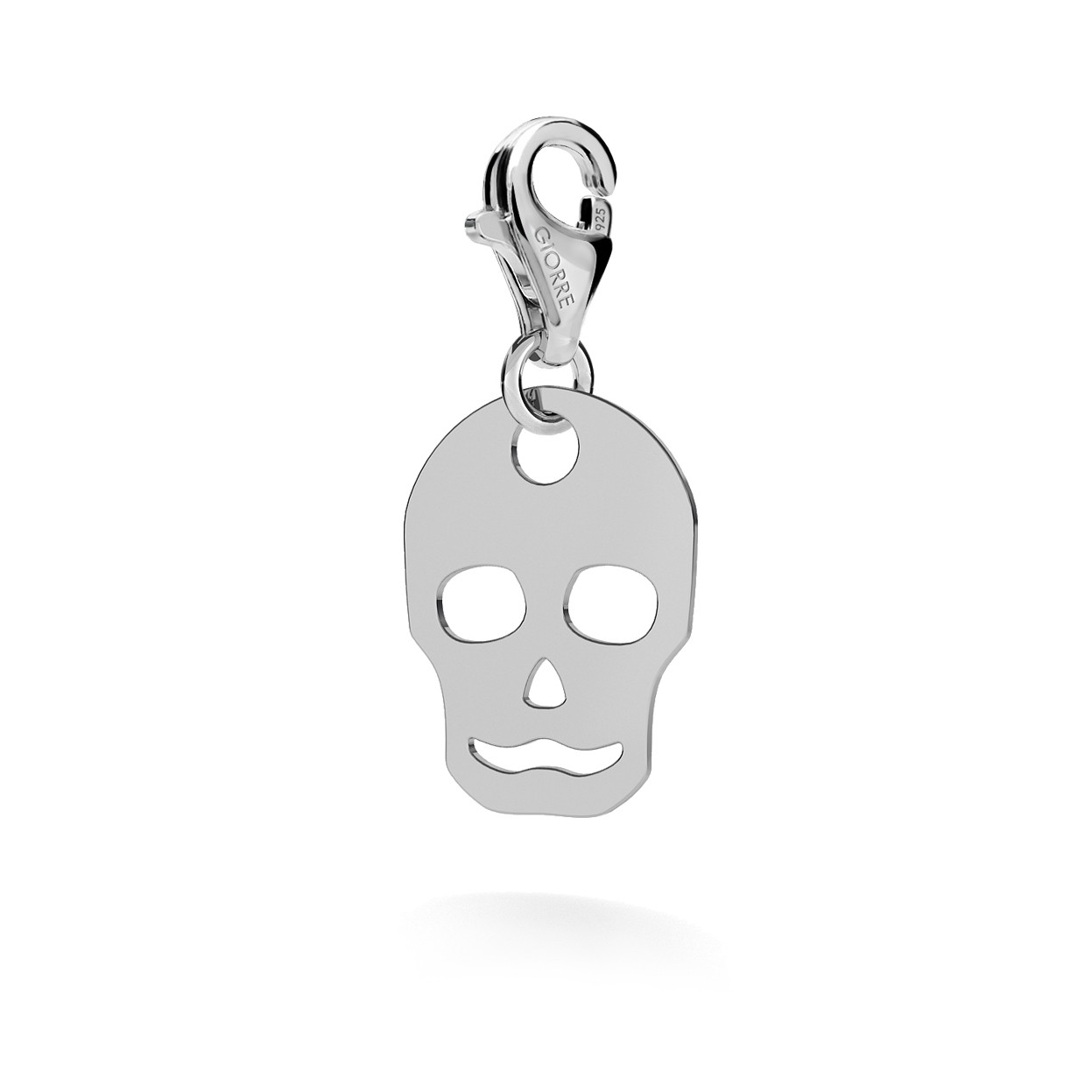 CHARM 55, SKULL, SILVER 925,  RHODIUM OR GOLD PLATED