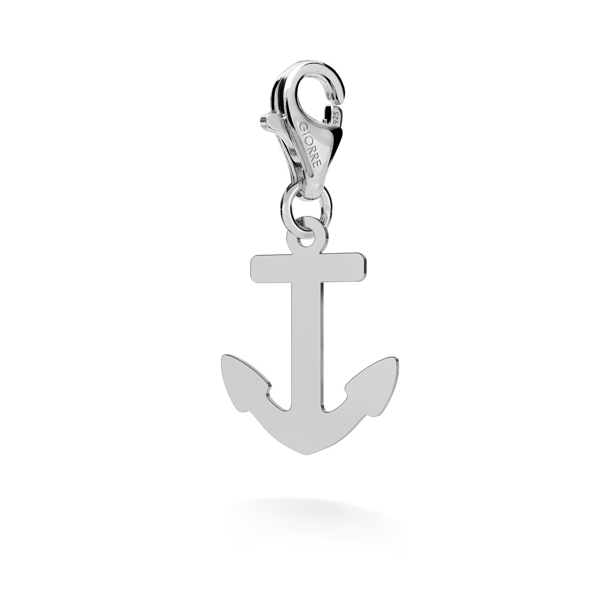CHARM 64, ANCHOR, SILVER 925,  RHODIUM OR GOLD PLATED