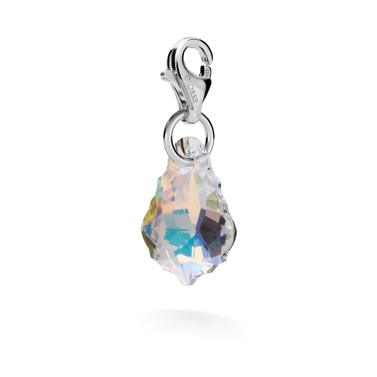 CHARMS 48, SWAROVSKI 6090 MM 16, STERLING SILVER (925) RHODIUM OR GOLD PLATED