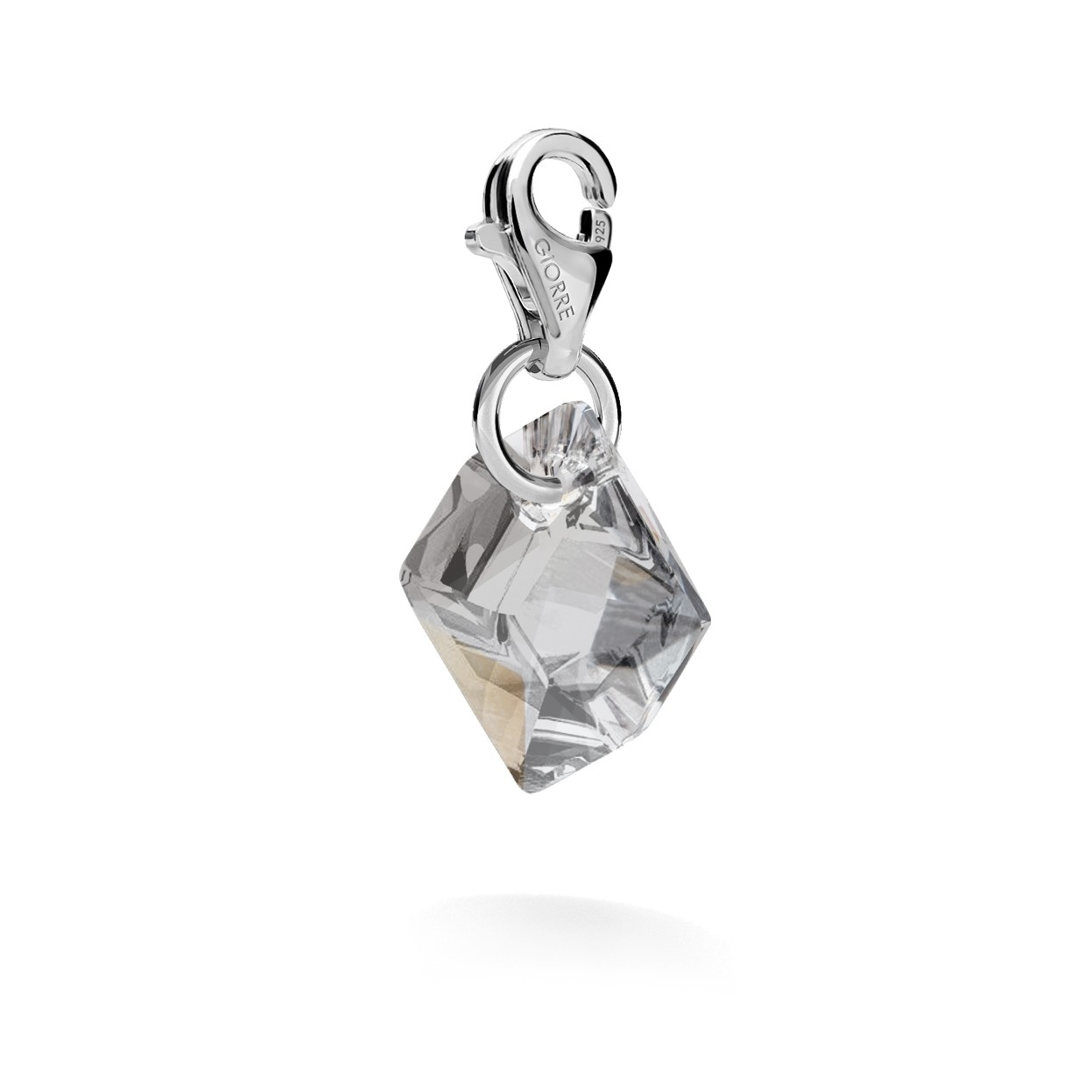 CHARM 50, SWAROVSKI 6680 MM 14 CRYSTAL, STERLING SILVER (925) RHODIUM OR GOLD PLATED