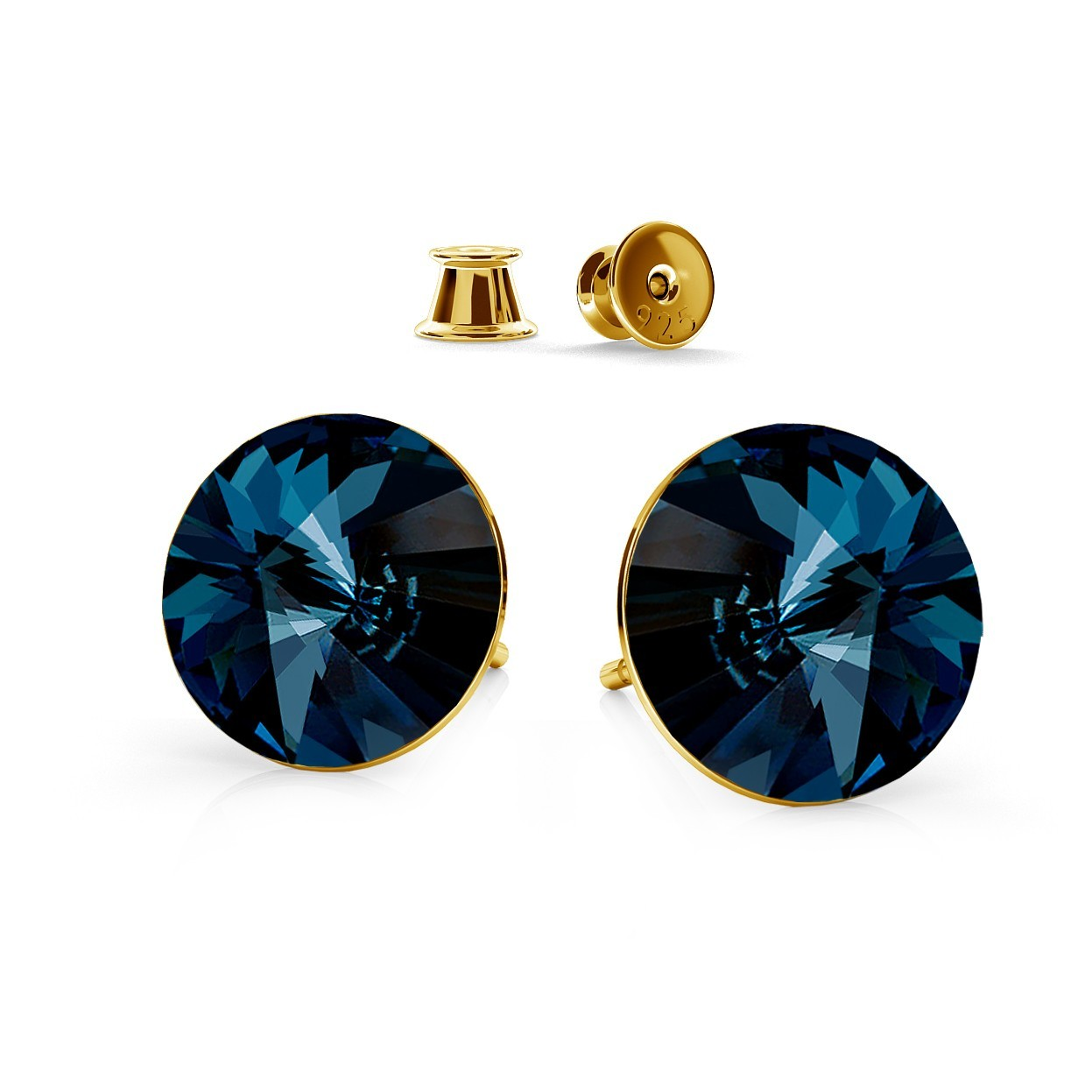 RIVOLI 8MM POST EARRINGS, SWAROVSKI