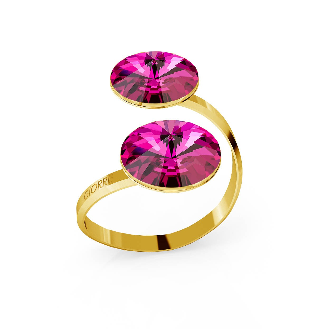 RIVOLI RING WITH 2 STONES, SWAROVSKI