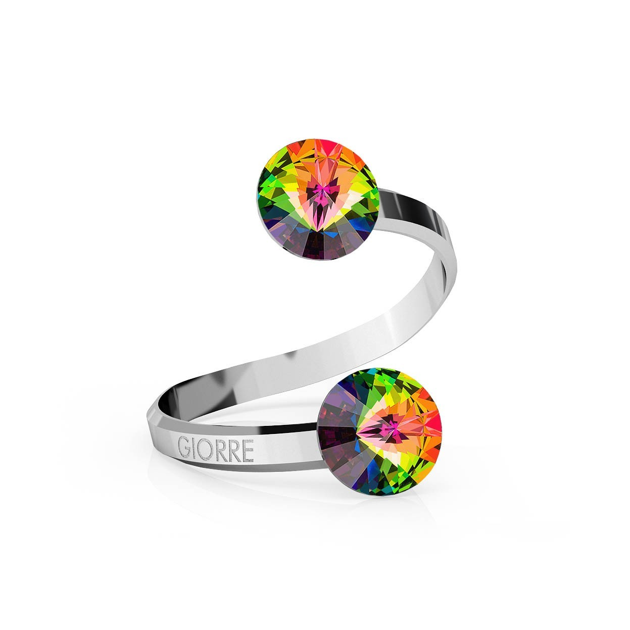 RIVOLI RING WITH 2 STONES 8MM, SWAROVSKI