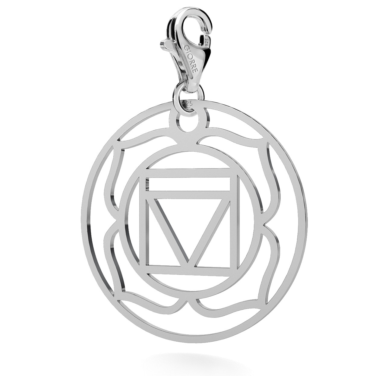 CHARM 74, ROOT CHAKRA, STERLING SILVER (925) RHODIUM OR GOLD PLATED