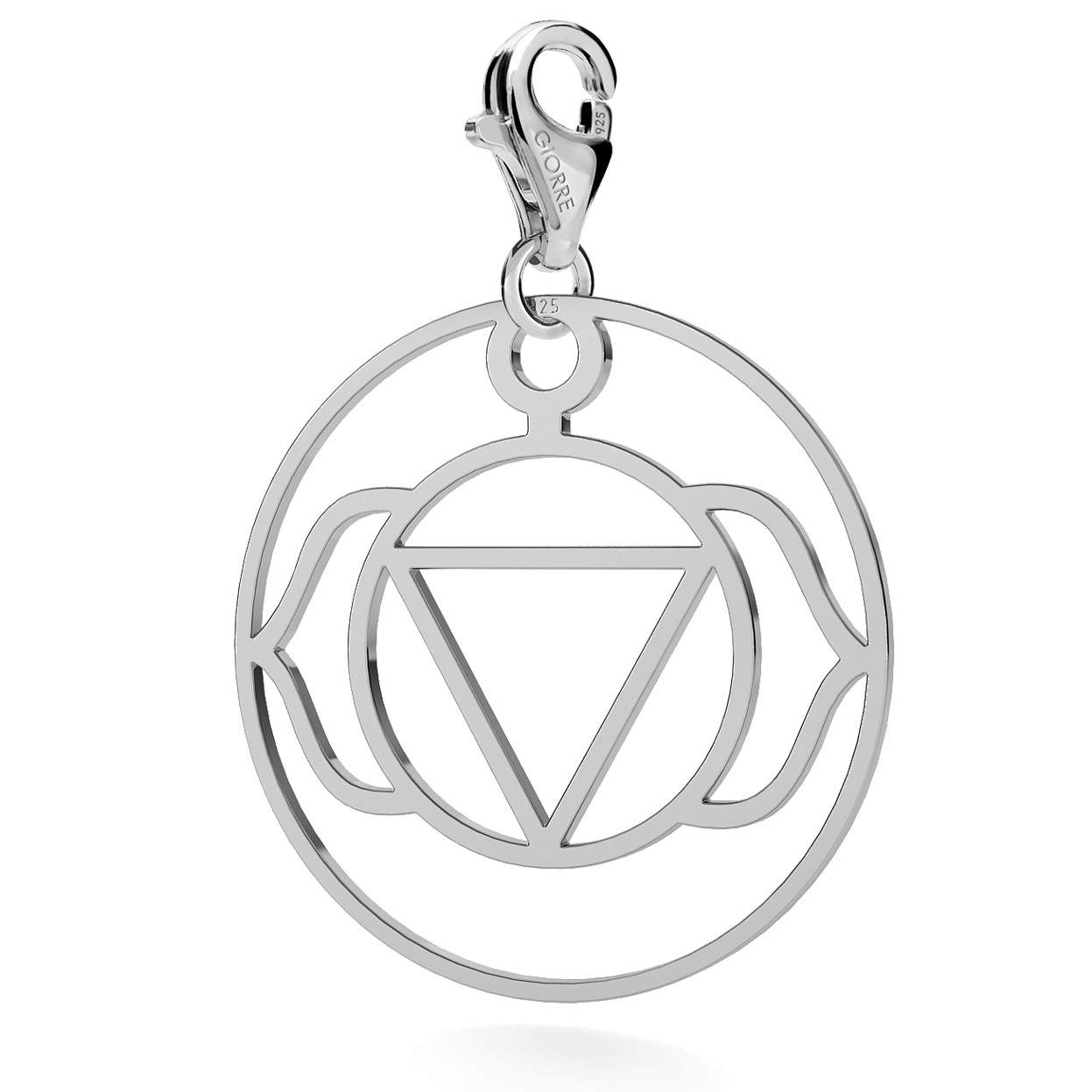 CHARM 69, THIRD EYE CHAKRA, STERLING SILVER (925) RHODIUM OR GOLD PLATED