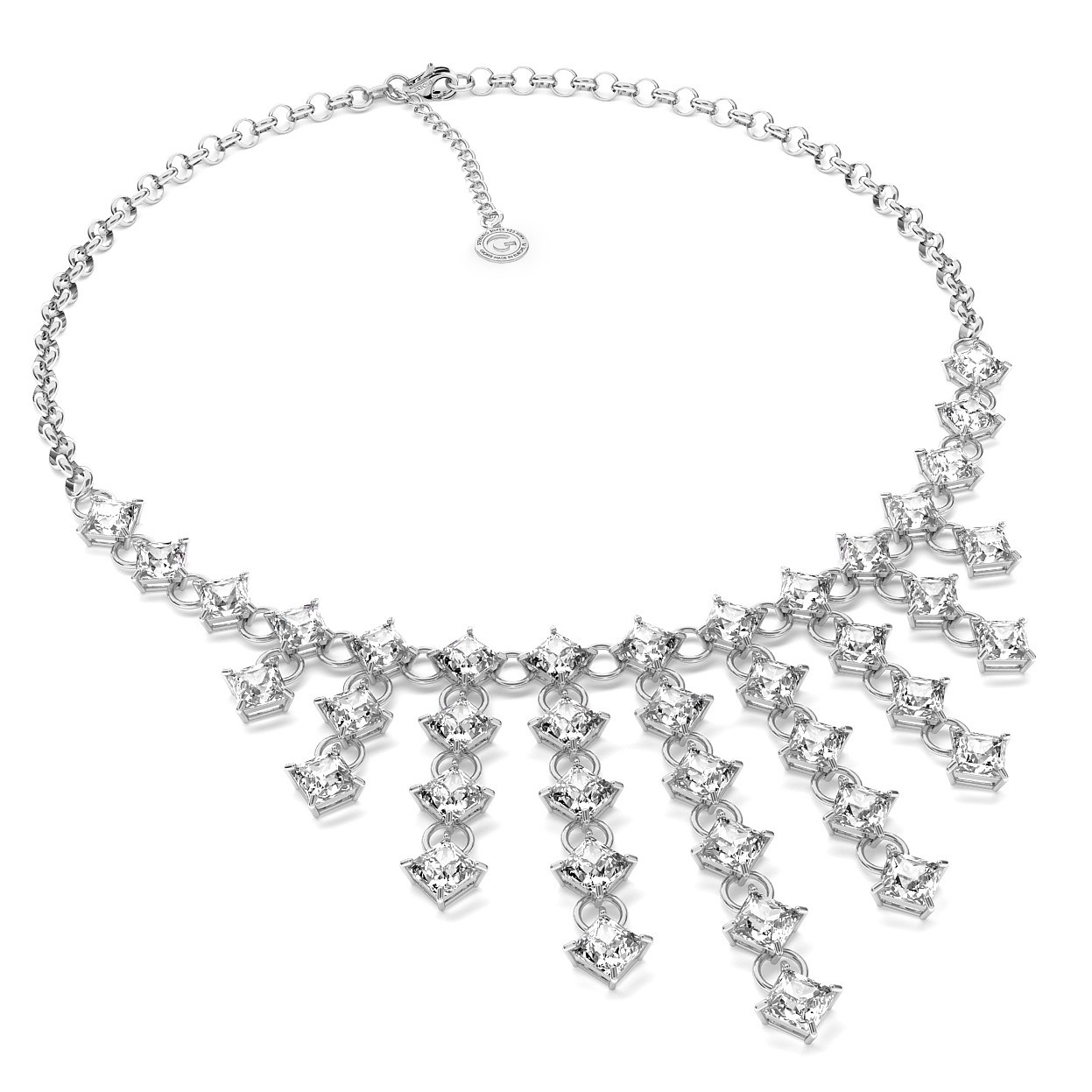 NECKLACE WITH ZIRCONS, WEDDING JEWELLERY - MODEL 1