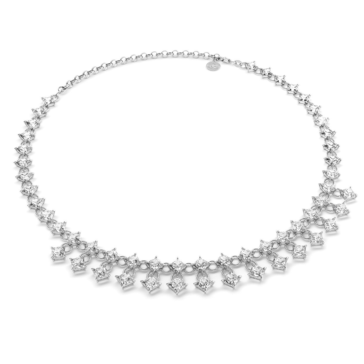 NECKLACE WITH ZIRCONS, WEDDING JEWELLERY - MODEL 2