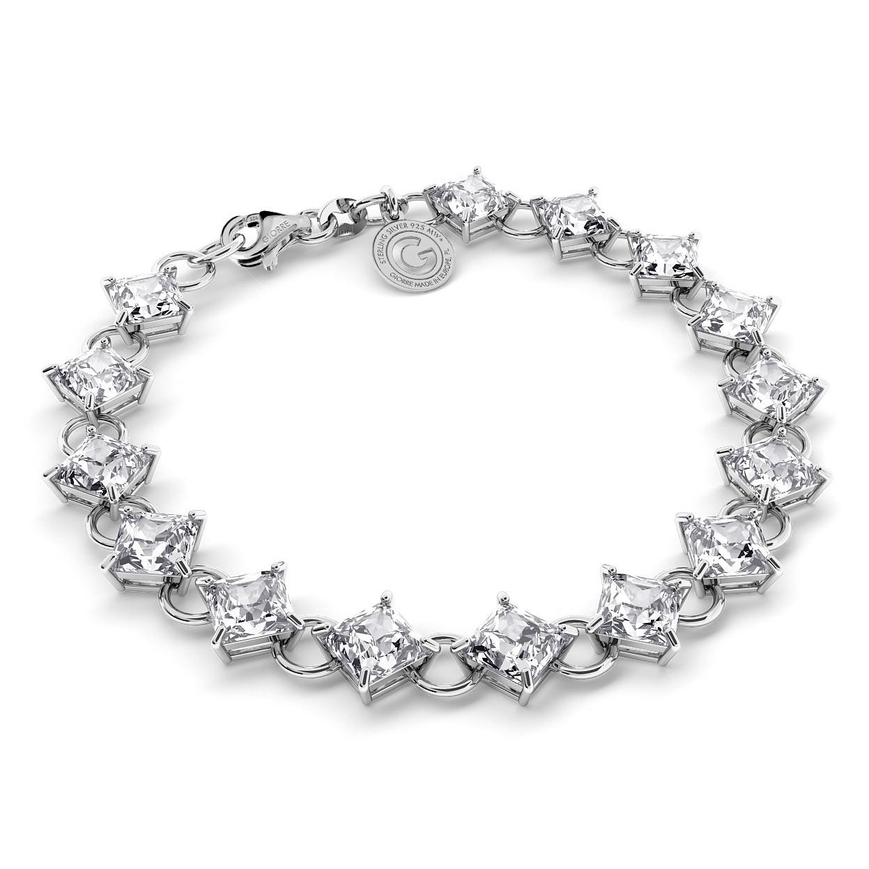 Armband mit Zirkonen, Hochzeitsschmuck - MODEL 1