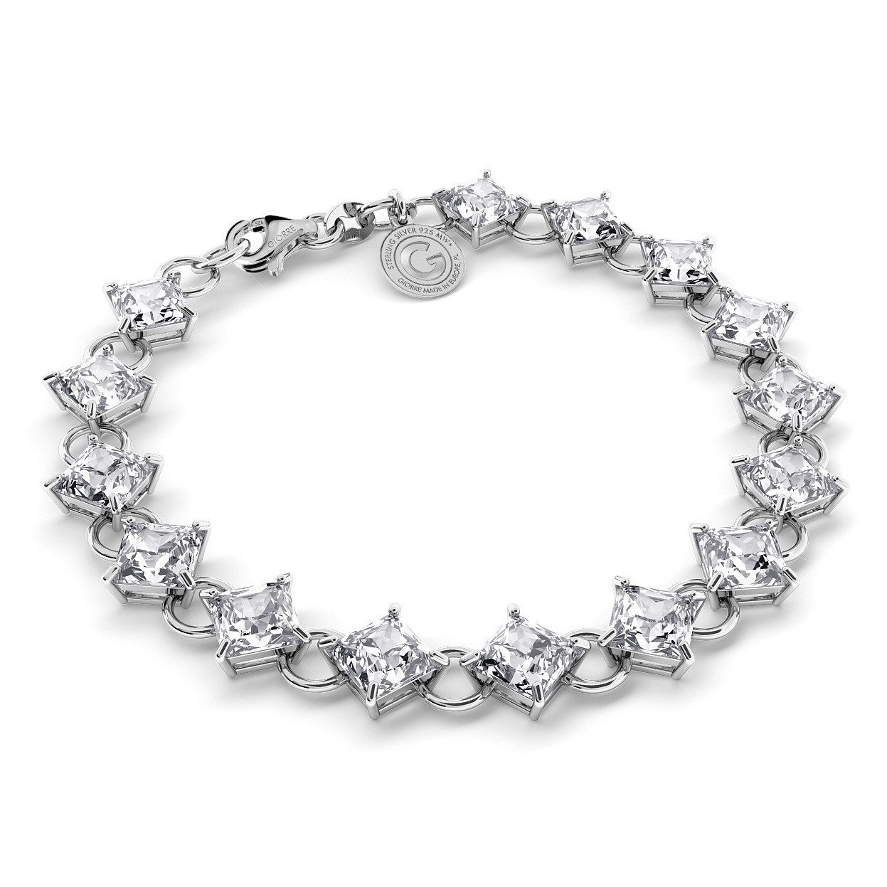 BRACELET WITH ZIRCONS, WEDDING JEWELLERY - MODEL 1