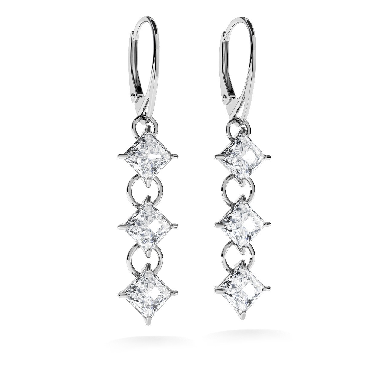EARRINGS WITH ZIRCONS, WEDDING JEWELLERY - MODEL 1