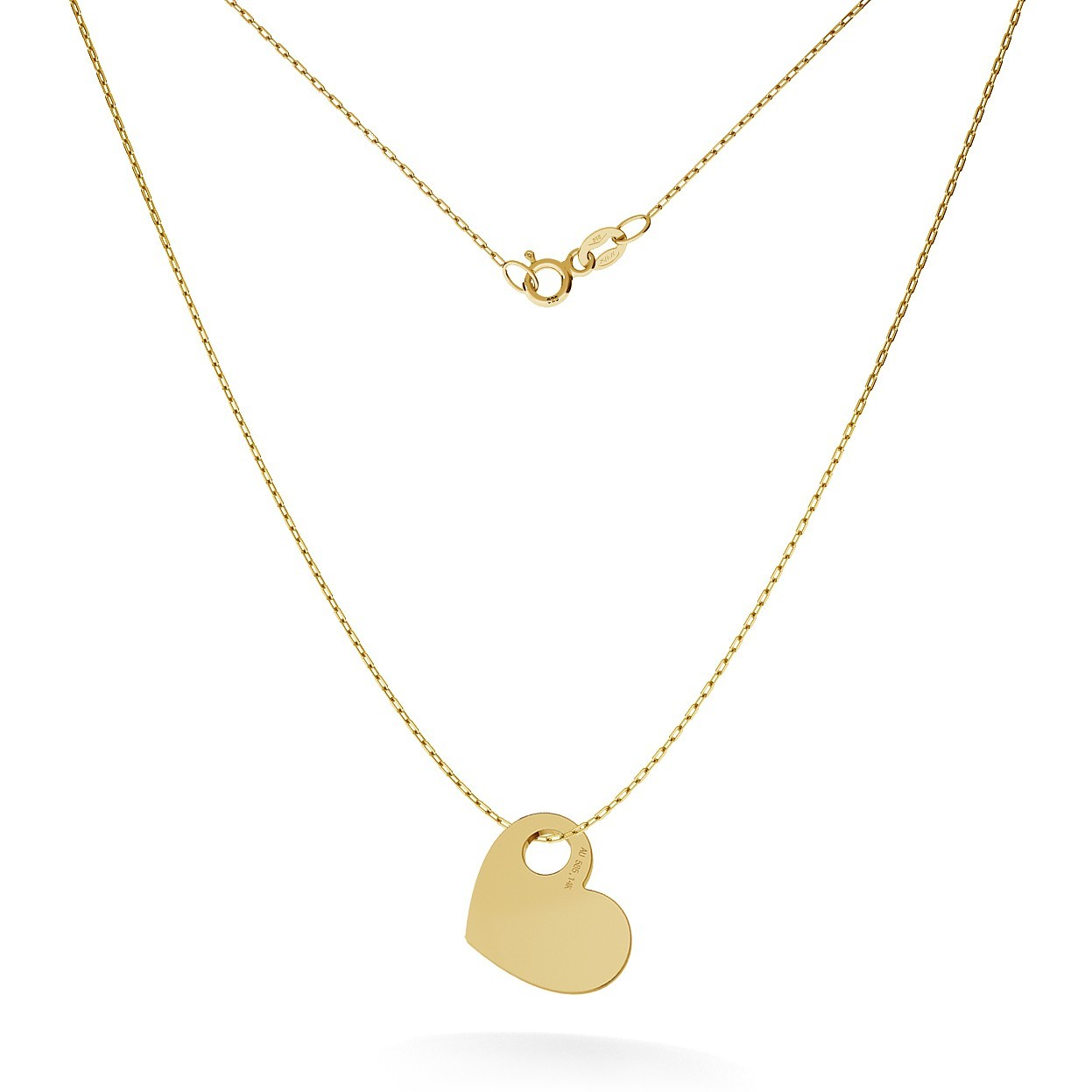 GOLD HEART NECKLACE 14K, MODEL 14