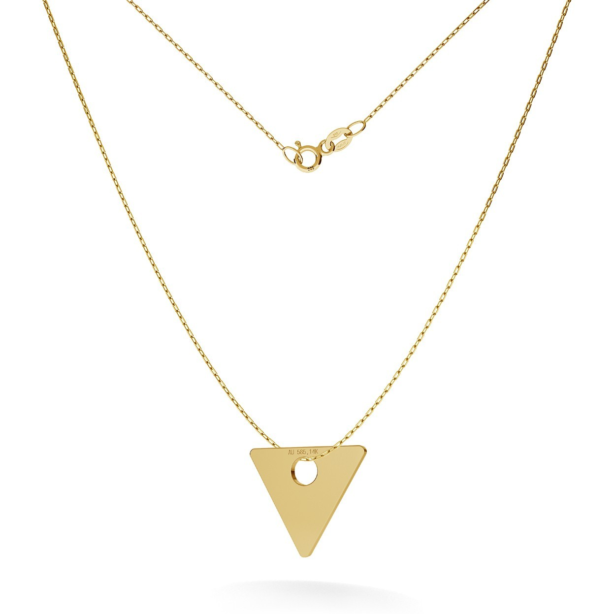 GOLD TRIANGLE NECKLACE 14K, MODEL 4