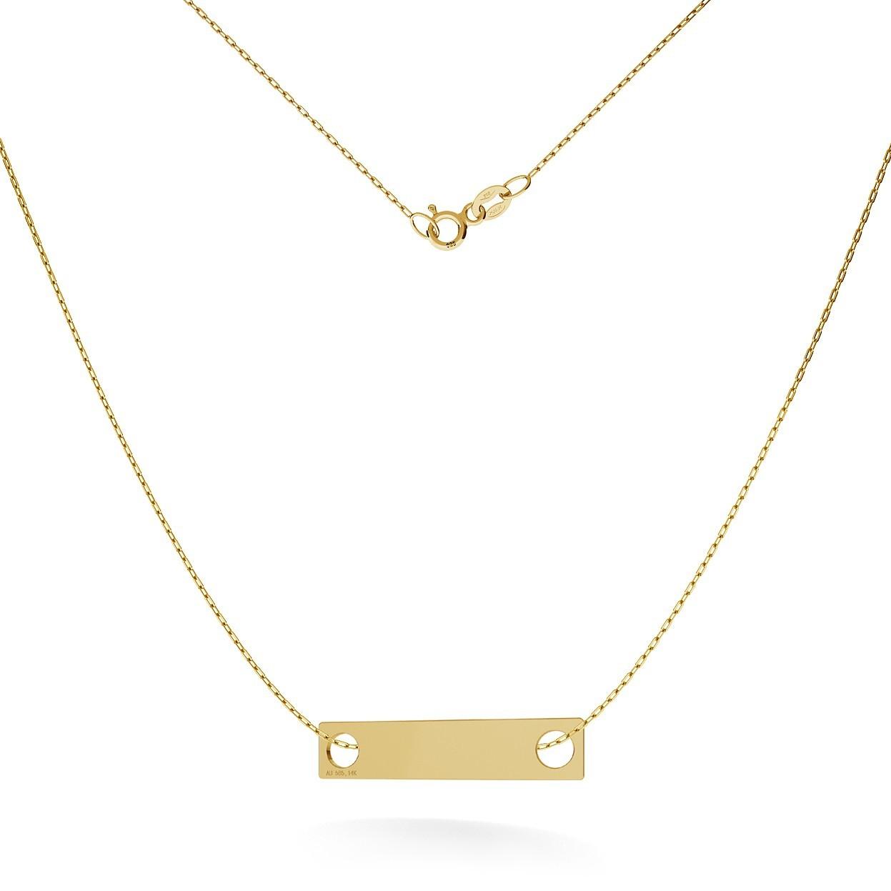 GOLD RECTANGLE NECKLACE 14K, MODEL 18