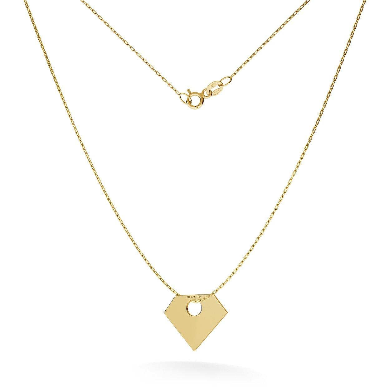 GOLD DIAMOND NECKLACE 14K, MODEL 13