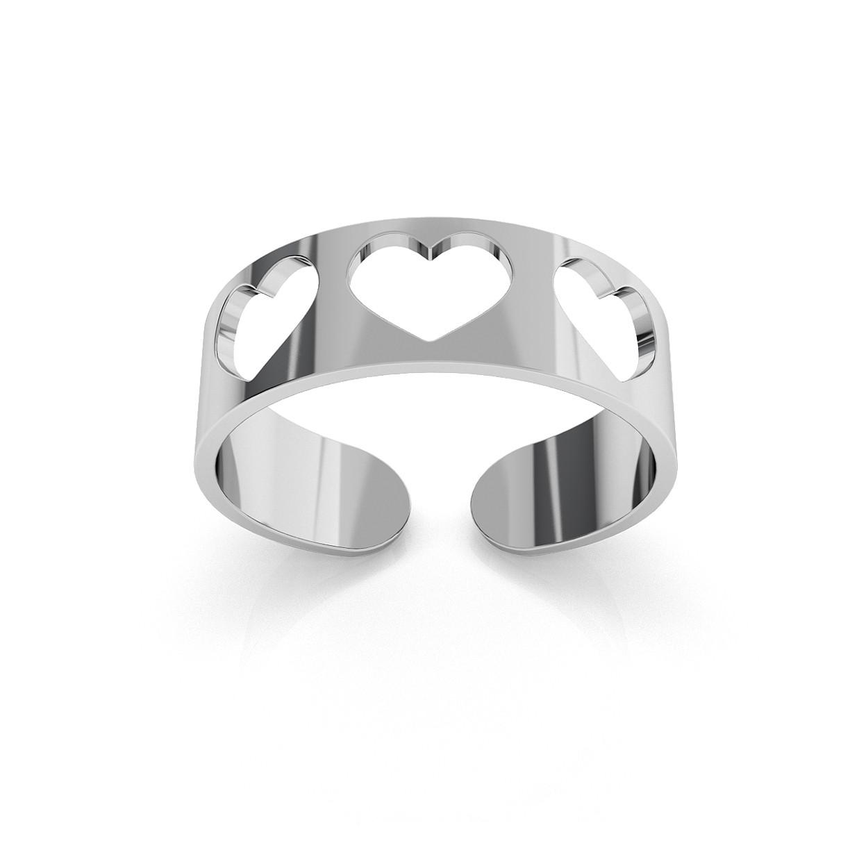 Srebrny pierścionek na kciuk 925