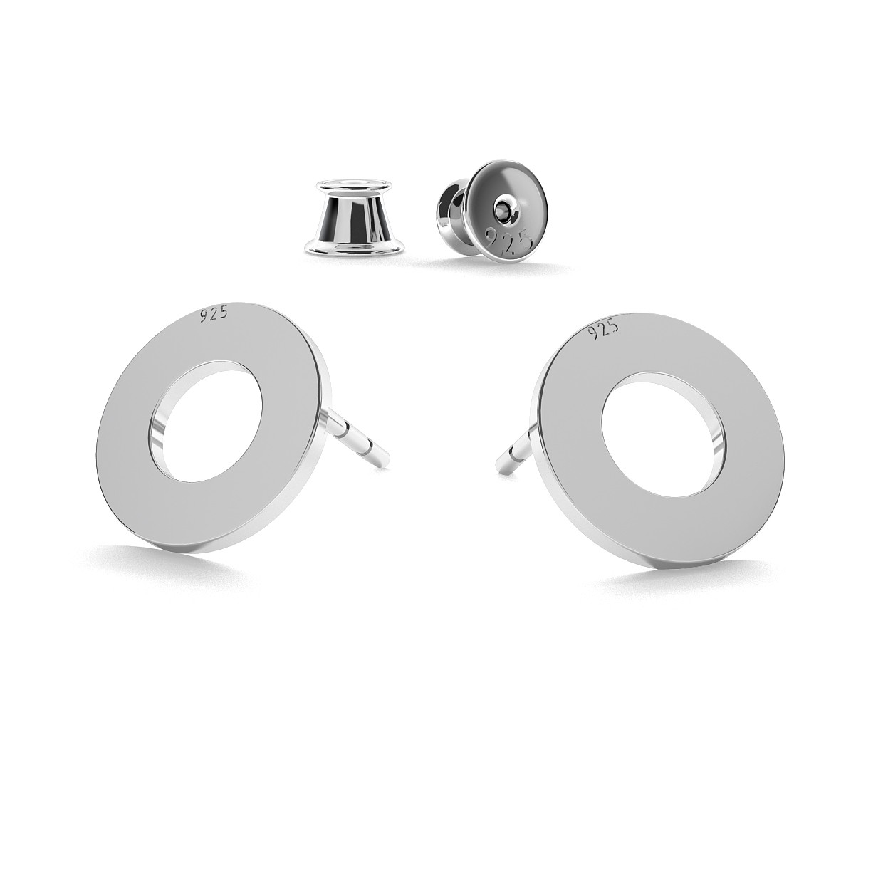 ROUND POST EARRINGS WITH ENGRAVAVING