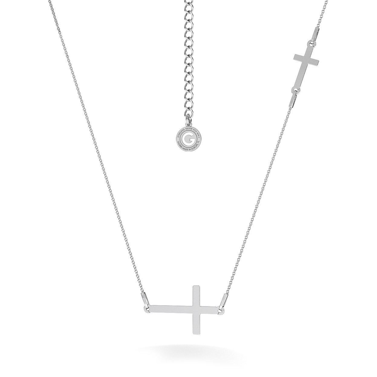 DOUBLE HORIZONTAL CROSS NECKLACE