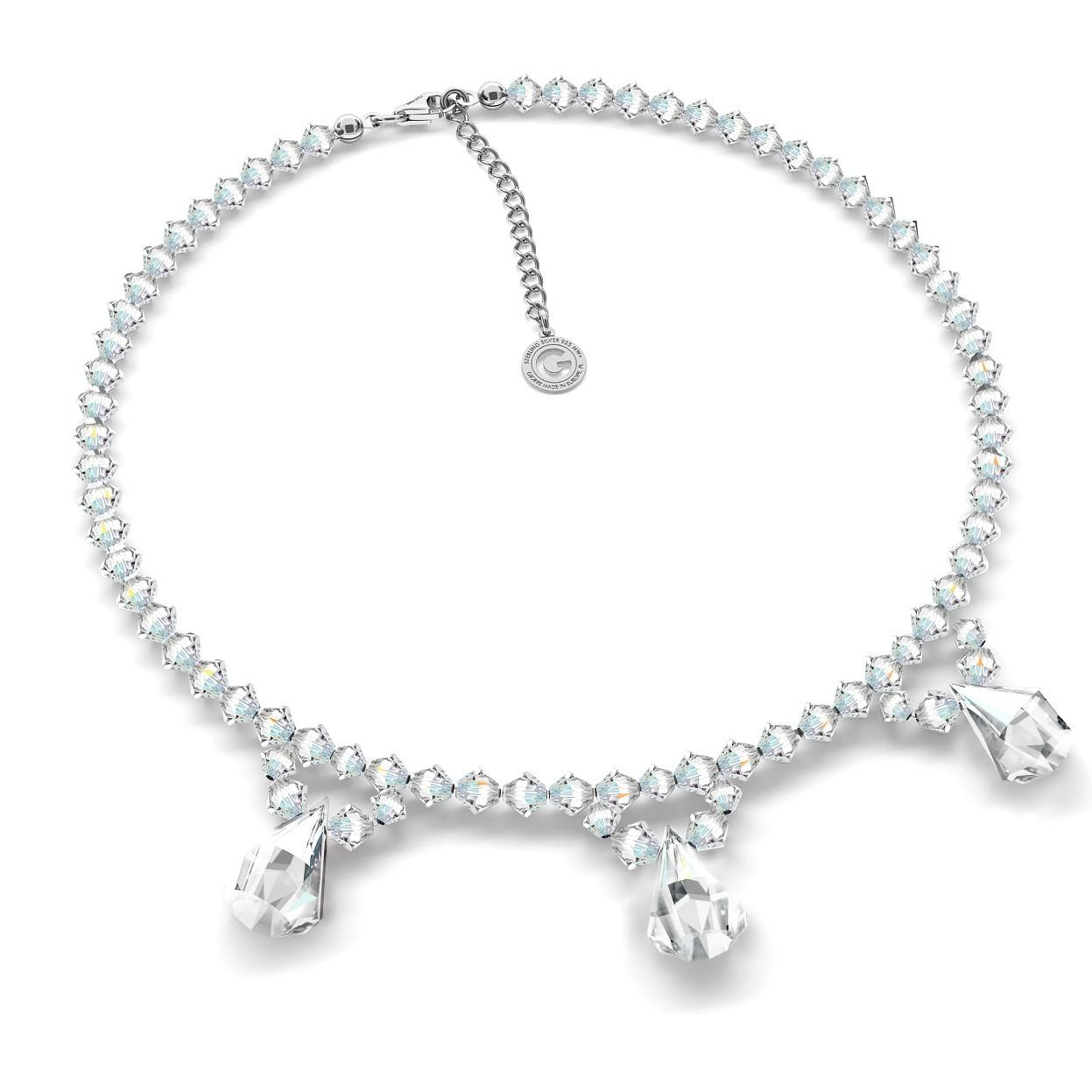 Halskette mit Swarovski Crystals, Hochzeitsschmuck - MODEL 1