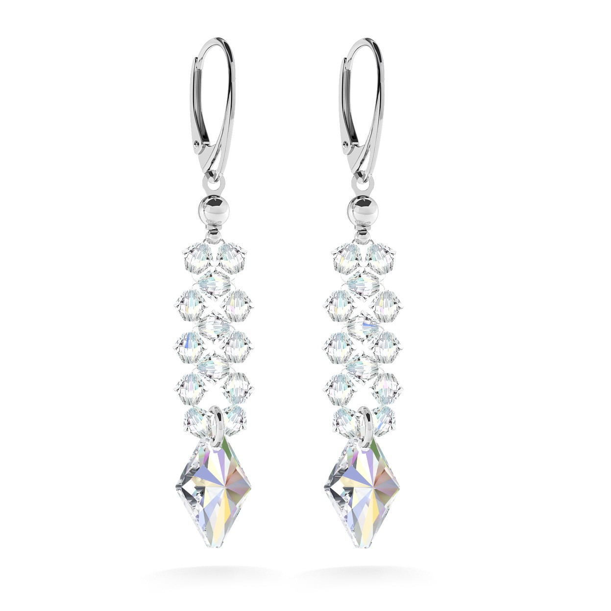 EARRINGS WITH SWAROVSKI CRYSTALS, WEDDING JEWELLERY - MODEL 2