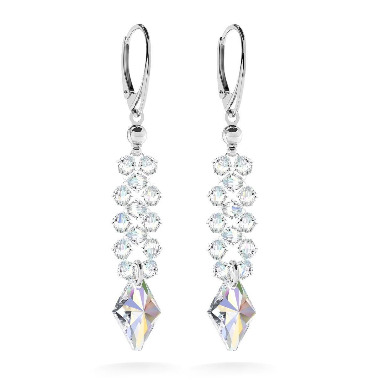 Ohrringe mit Swarovski Crystals, Hochzeitsschmuck - MODEL 2
