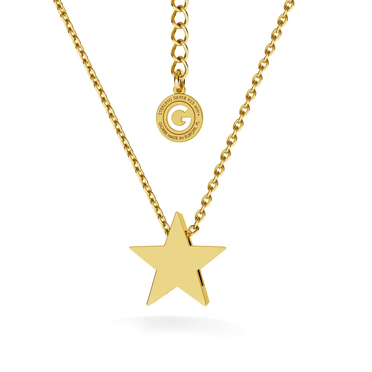 Star necklace, sterling silver 925