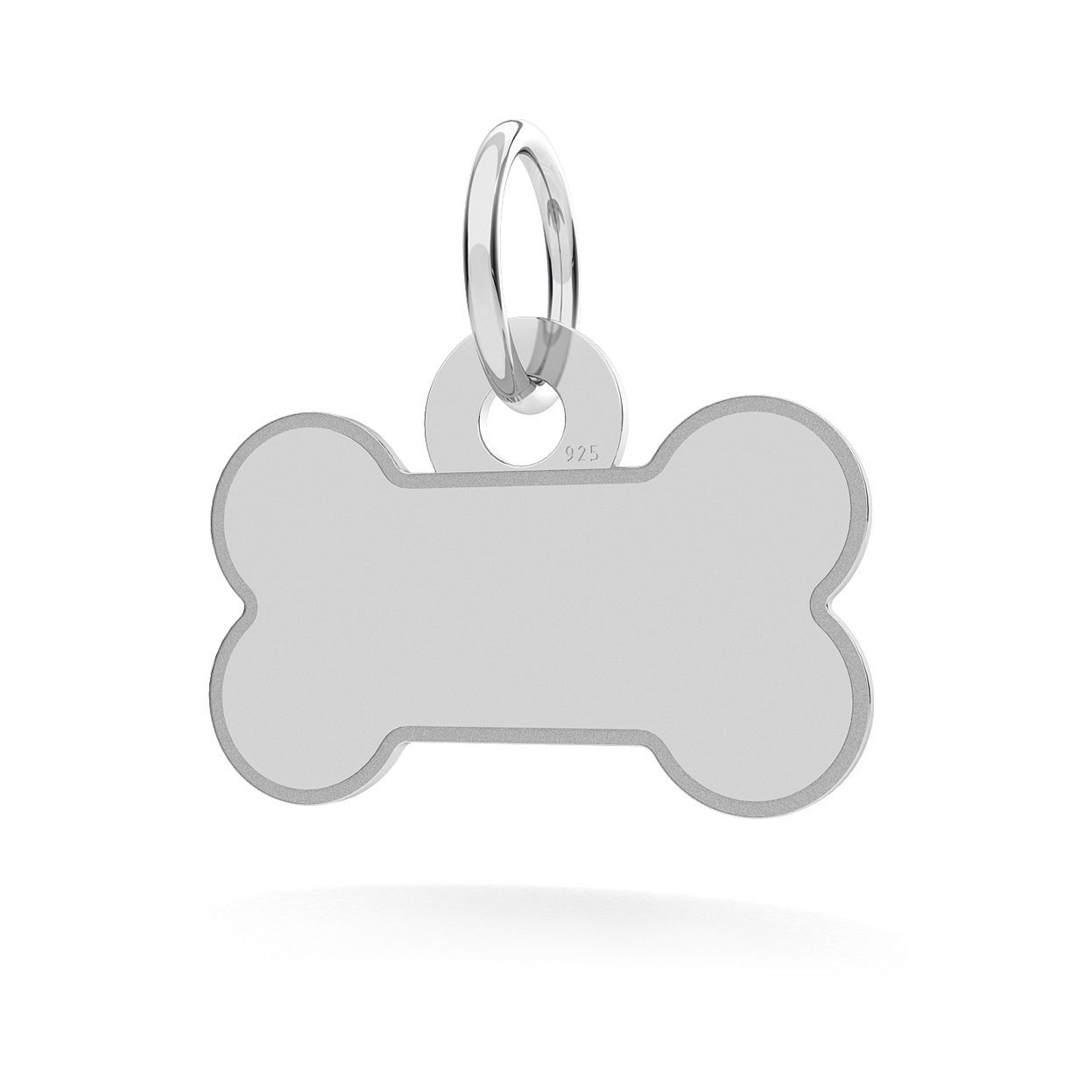BONE ANIMAL ID PENDANT WITH ENGRAVED, STERLING SILVER, MODEL 3