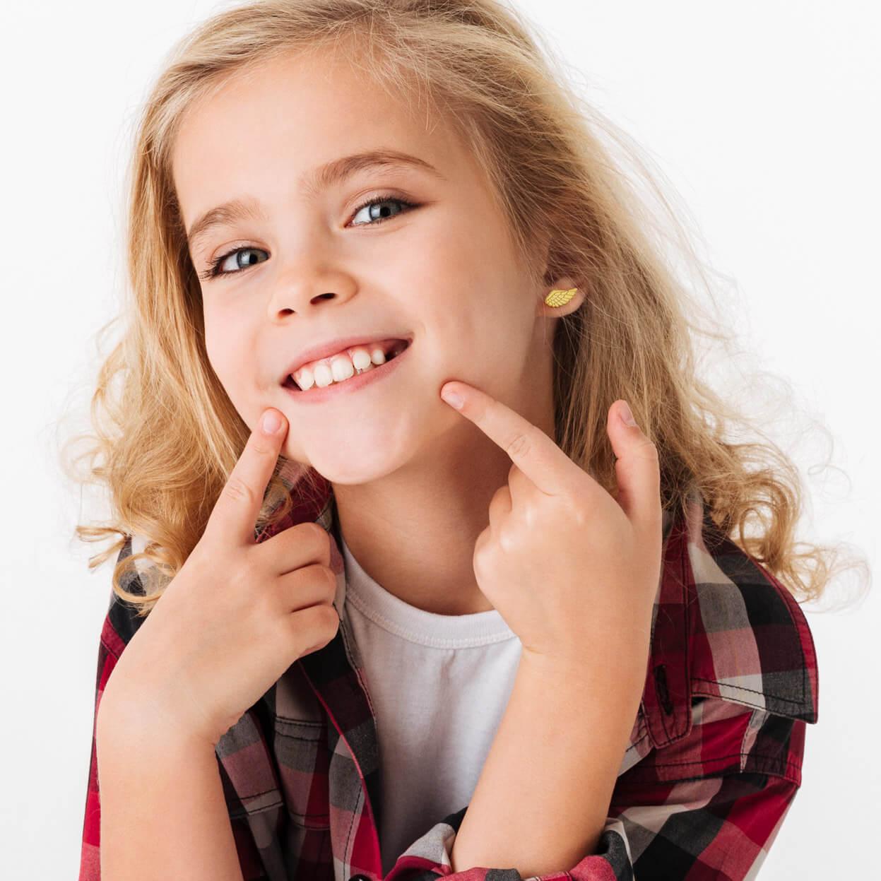 Srebrne kolczyki dla dziecka