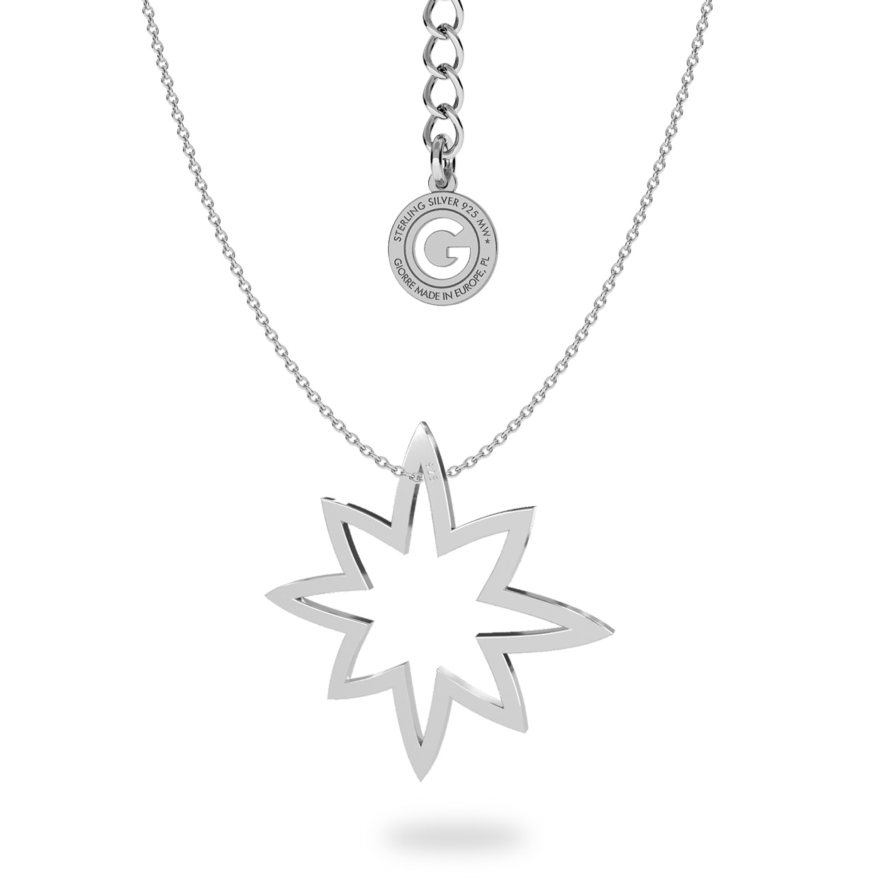 Star necklace sterling silver 925