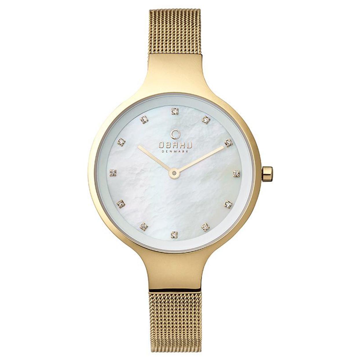 Zegarek Obaku V173LXGGMG - grawer na stalowej kopercie