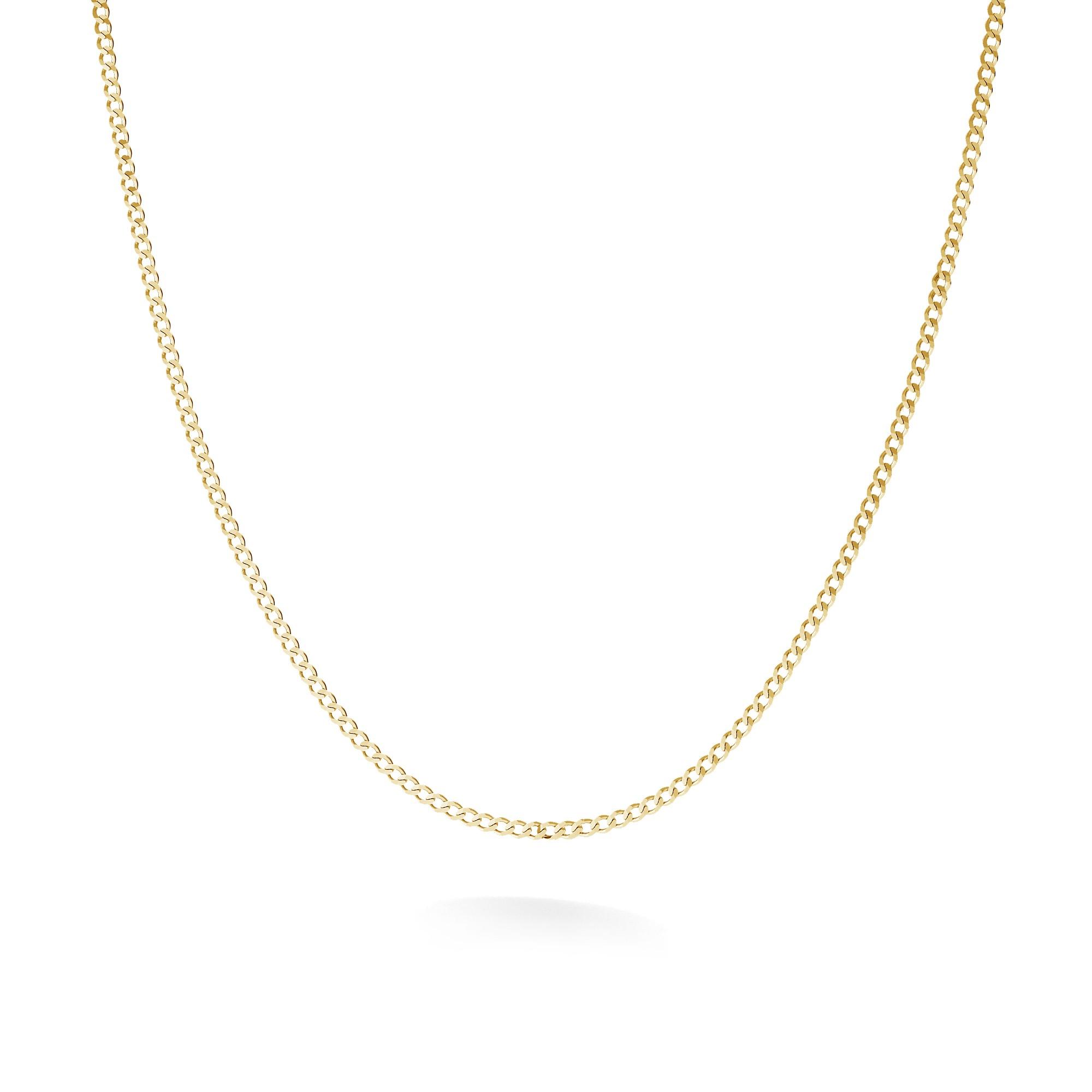 Cadena de plata 45-55 cm, plata chapada en rodio u oro, plata 925