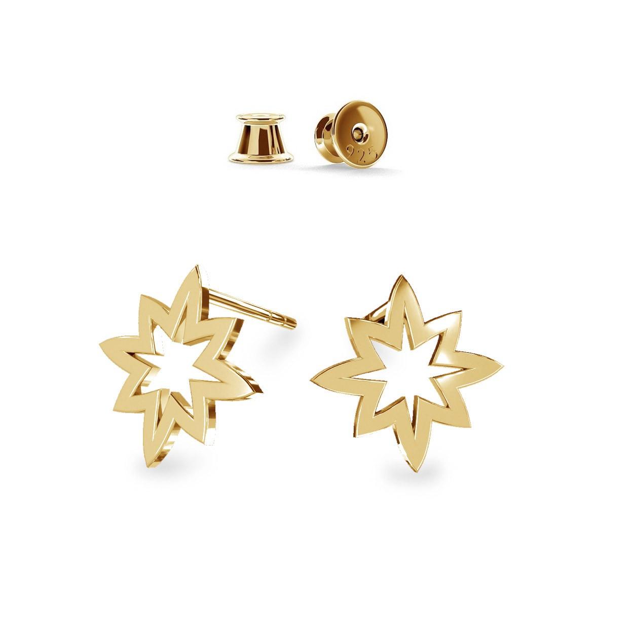Estrella aretes, plata 925