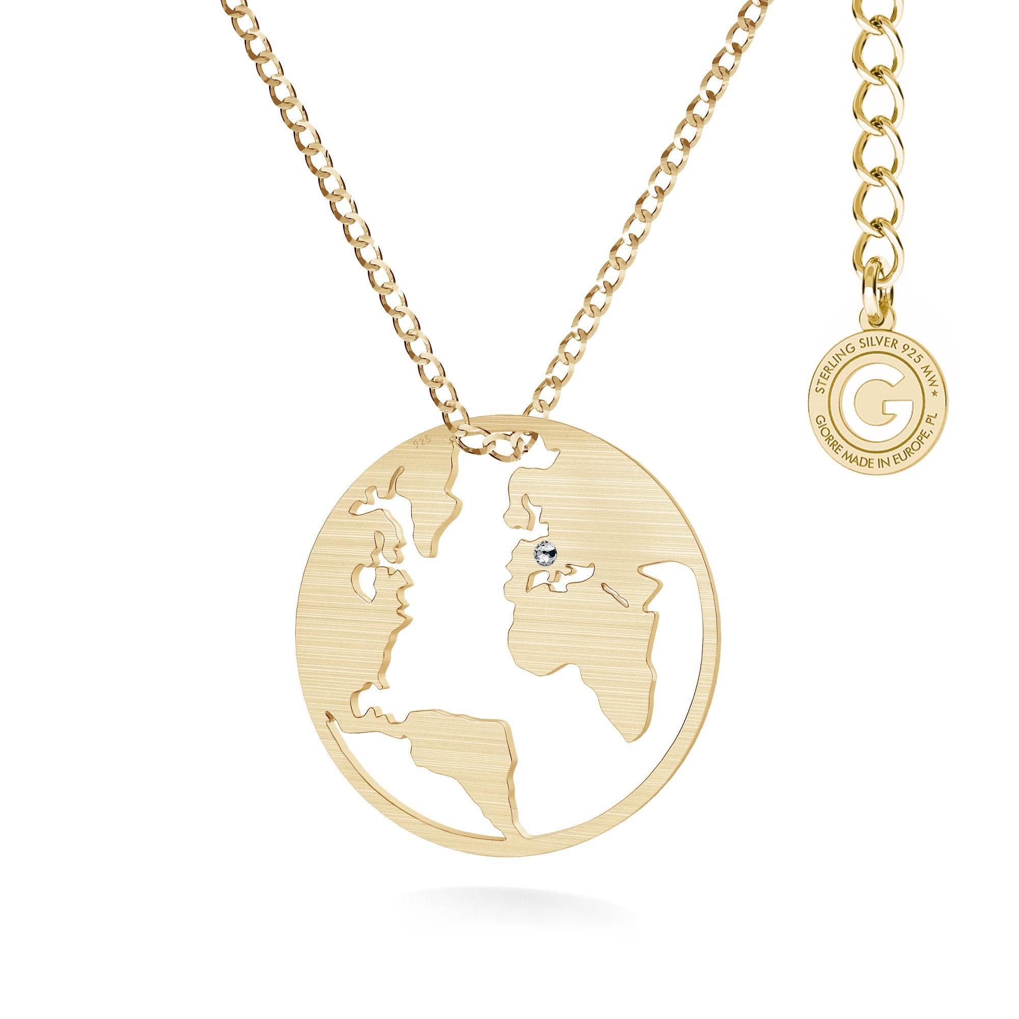 MON DÉFI Necklace - Globe, satin silver 925 curb chain