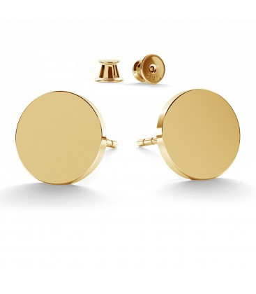 Round flat 11 mm earrings